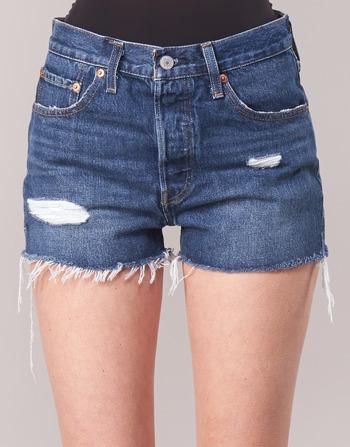 ShortsBermudas Rise Short Medium Vêtements High Femme Bleu Levi's 502 RqjL4A35