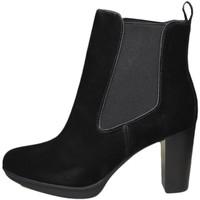 Chaussures Femme Bottines Tommy Hilfiger Bottines à talon  noires en daim pour femme Noir