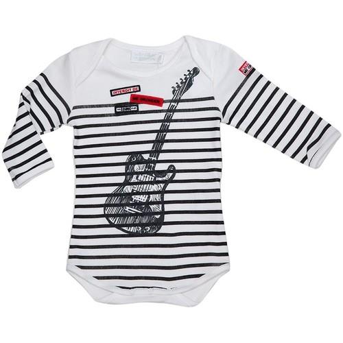 Vêtements Garçon Pyjamas / Chemises de nuit Interdit De Me Gronder Little Guitare Noir