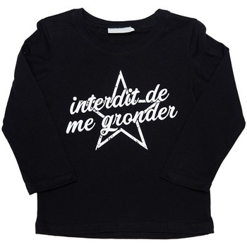 Vêtements Fille T-shirts & Polos Interdit De Me Gronder Star Noir