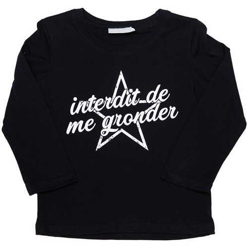 Vêtements Fille T-shirts & Polos Interdit De Me Gronder Star Noir