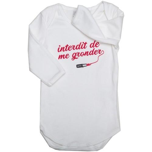 Vêtements Fille Pyjamas / Chemises de nuit Interdit De Me Gronder Little Pretty Blanc