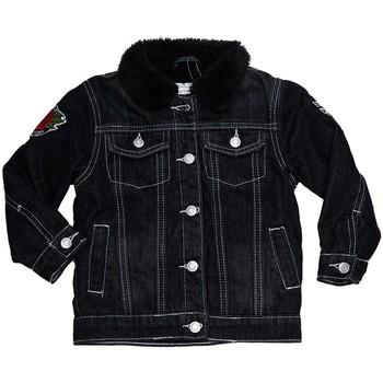 Vêtements Fille Vestes en jean Interdit De Me Gronder ROCKABILLY Noir