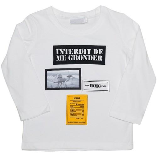 Vêtements Fille T-shirts & Polos Interdit De Me Gronder Aventure Blanc