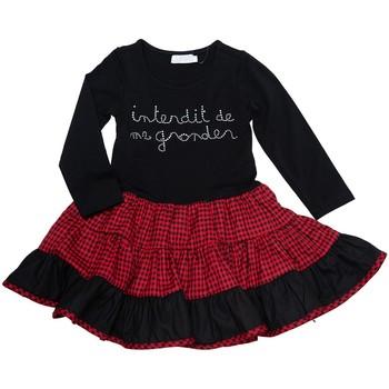 Vêtements Fille Robes courtes Interdit De Me Gronder Kiss Noir