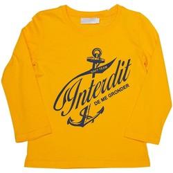 Vêtements Garçon T-shirts manches longues Interdit De Me Gronder Matelot Jaune