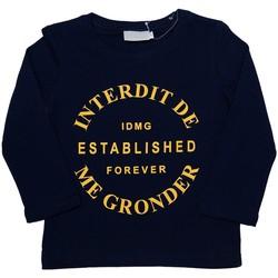 Vêtements Enfant T-shirts manches longues Interdit De Me Gronder Heritage Bleu