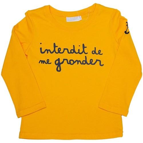 Vêtements Fille T-shirts manches longues Interdit De Me Gronder Harbor Jaune