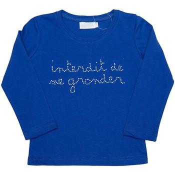Vêtements Fille T-shirts manches longues Interdit De Me Gronder Strassy Bleu électrique