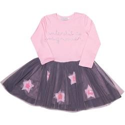 Vêtements Fille Robes courtes Interdit De Me Gronder Etoile Rose