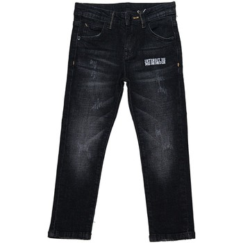 Vêtements Garçon Jeans slim Interdit De Me Gronder Native Noir