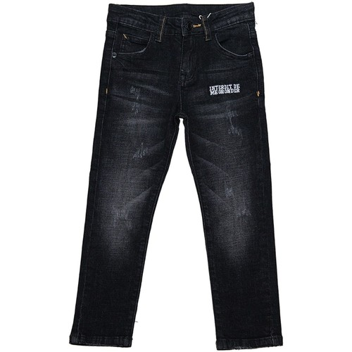 Vêtements Garçon Jeans slim Interdit De Me Gronder Native Noir