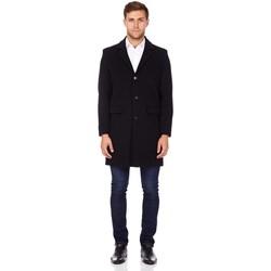 Vêtements Homme Manteaux De La Creme Manteau d'hiver en laine cachemire Black