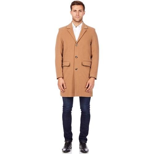 Vêtements Homme Manteaux De La Creme Manteau d'hiver en laine cachemire BEIGE