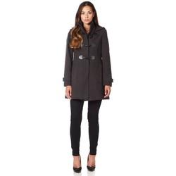 Vêtements Femme Manteaux De La Creme Manteau d'hiver à capuche en laine et cachemire Grey