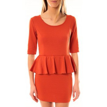 Vêtements Femme Robes courtes Tcqb Robe Moda Fashion Orange Orange