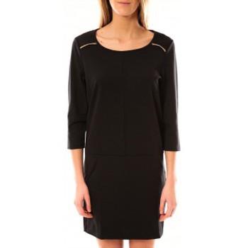 Vêtements Femme Robes courtes Vero Moda Greg 3/4 Short Dress 10098979 Noir Noir