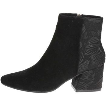 Chaussures Femme Low boots Pregunta PCF03 001 Bottines Avec Talons Femme Noir Noir