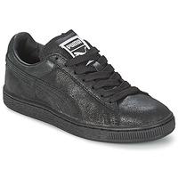 Chaussures Femme Baskets basses Puma SUEDE CLASSIC MATT&SHINE WNS Noir