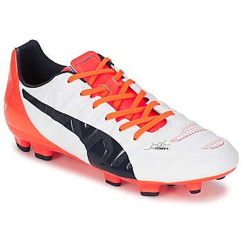 Chaussures Homme Football Puma EVOPOWER 3 2 FG Blanc / Rouge / Noir