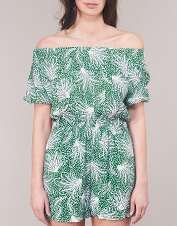 See Soon U Vêtements Femme Garagabe CombinaisonsSalopettes Vert Blanc QshdrtCx