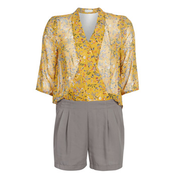Vêtements Femme Combinaisons / Salopettes See U Soon GARAGALE Jaune / Kaki