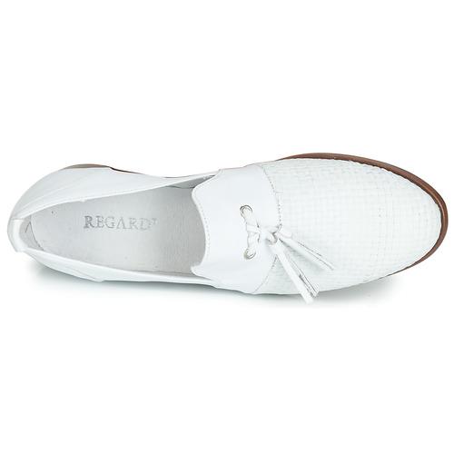 Nappa Reva Derbies V1 Tres Femme Blanc Regard FlKc1TJ