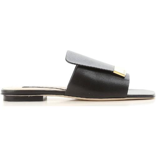 Chaussures Femme Claquettes Sergio Rossi A80380 MNAN07 1000 nero