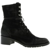 Chaussures Femme Boots Pao Rangers cuir velours Noir
