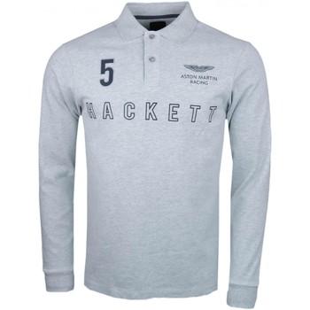 Vêtements Homme Polos manches longues Hackett Polo rugby  gris Aston Martin slim fit pour homme Gris
