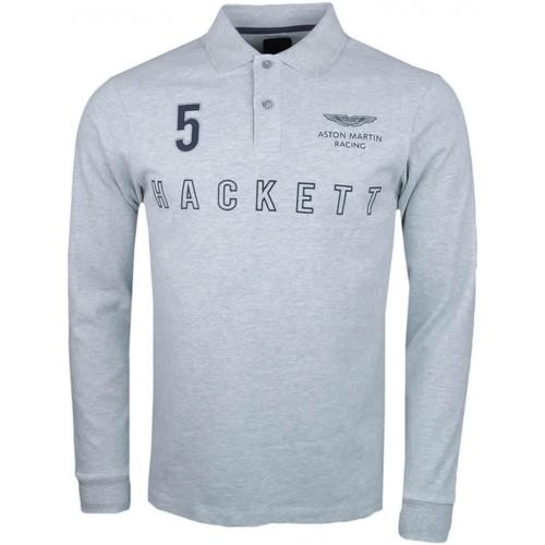 Hackett Polo rugby gris Aston Martin slim