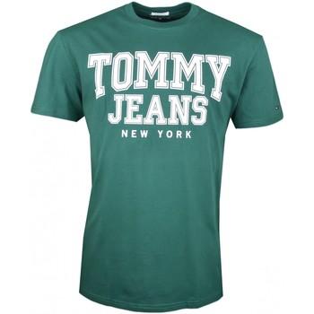 Vêtements Homme T-shirts manches courtes Tommy Jeans T-shirt col rond  vert New York régular pour homme Vert