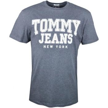 Vêtements Homme T-shirts manches courtes Tommy Jeans T-shirt col rond  gris New York régular pour homme Gris