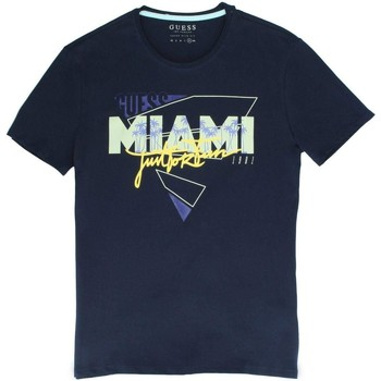 Vêtements Homme T-shirts manches courtes Guess T-Shirt Homme M82I35-J1300-G720 Bleu Bleu