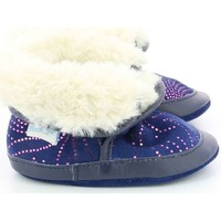 Chaussures Fille Chaussons bébés Robeez Cosy Boot MARINE