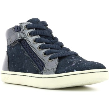 Chaussures Fille Baskets montantes Kickers Lyluby MARINE