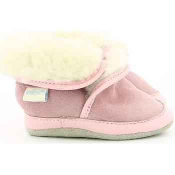 Chaussures Enfant Chaussons bébés Robeez Cosy Wool ROSE