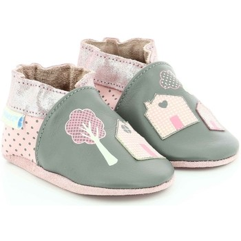 Chaussures Fille Chaussons bébés Robeez Home Sweet Home GRIS