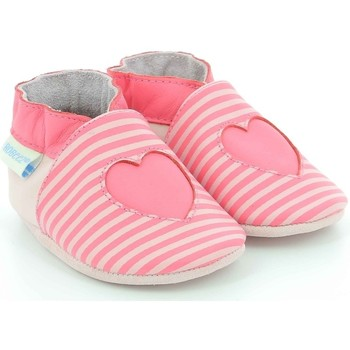 Chaussures Fille Chaussons bébés Robeez Sweet Love ROSE