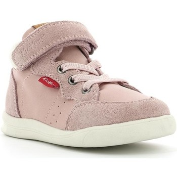 Chaussures Enfant Baskets montantes Kickers Chicago Bb Mid ROSE