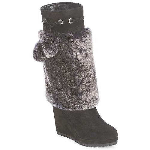 Sebastian NIGOK Noir - Livraison Gratuite avec  - Chaussures Botte ville Femme