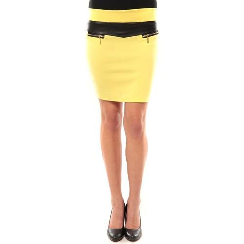 Vêtements Femme Jupes Nina Rocca Jupe J.X Fashion Jaune Jaune