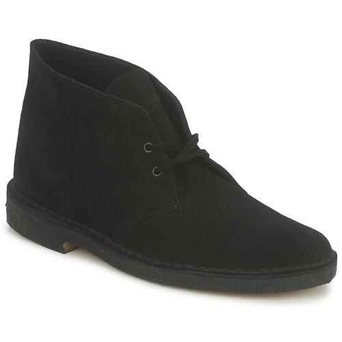 clarks desert boot noir livraison gratuite avec chaussures boot homme 129 00. Black Bedroom Furniture Sets. Home Design Ideas