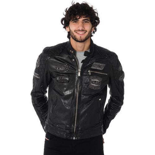 Vêtements Homme Vestes en cuir / synthétiques Redskins RIPPER CALISTA BLACK Noir