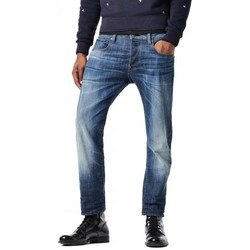 Jeans droit G-Star Raw Jean Attacc Straight Blue Delm Stretch Denim Dk Aged