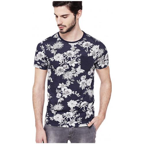 Vêtements Homme T-shirts manches courtes Guess T-Shirt Homme Aron Bleu (rft)