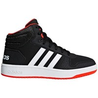 Chaussures Enfant Baskets montantes adidas Originals Hoops Mid 20 K Noir