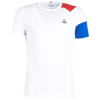 Vêtements Homme T-shirts manches courtes Le Coq Sportif ESS Tee SS N°10 M Blanc / Rouge / Bleu