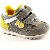Chaussures Enfant Chaussons bébés Nero Giardini JUNIOR chicots 23482 bébés chaussures grises de sneakers Grigio
