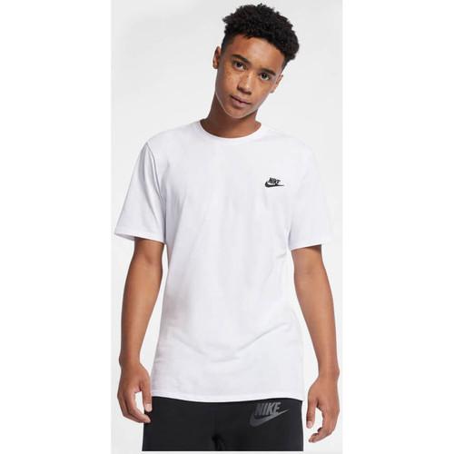 Vêtements Homme T-shirts manches courtes Nike Air Icon T-Shirt - White / Black blanc